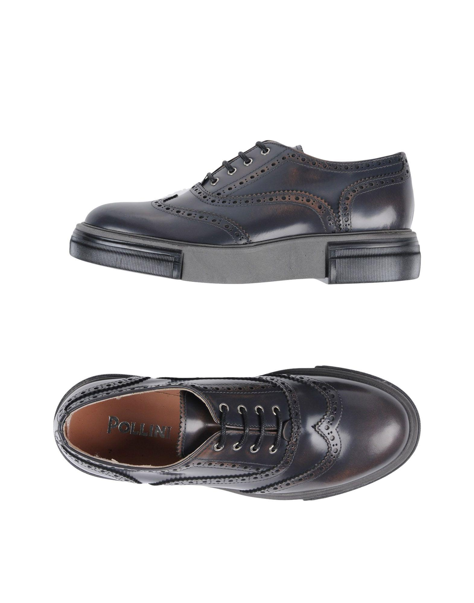 Pollini Laced Shoes In Lead
