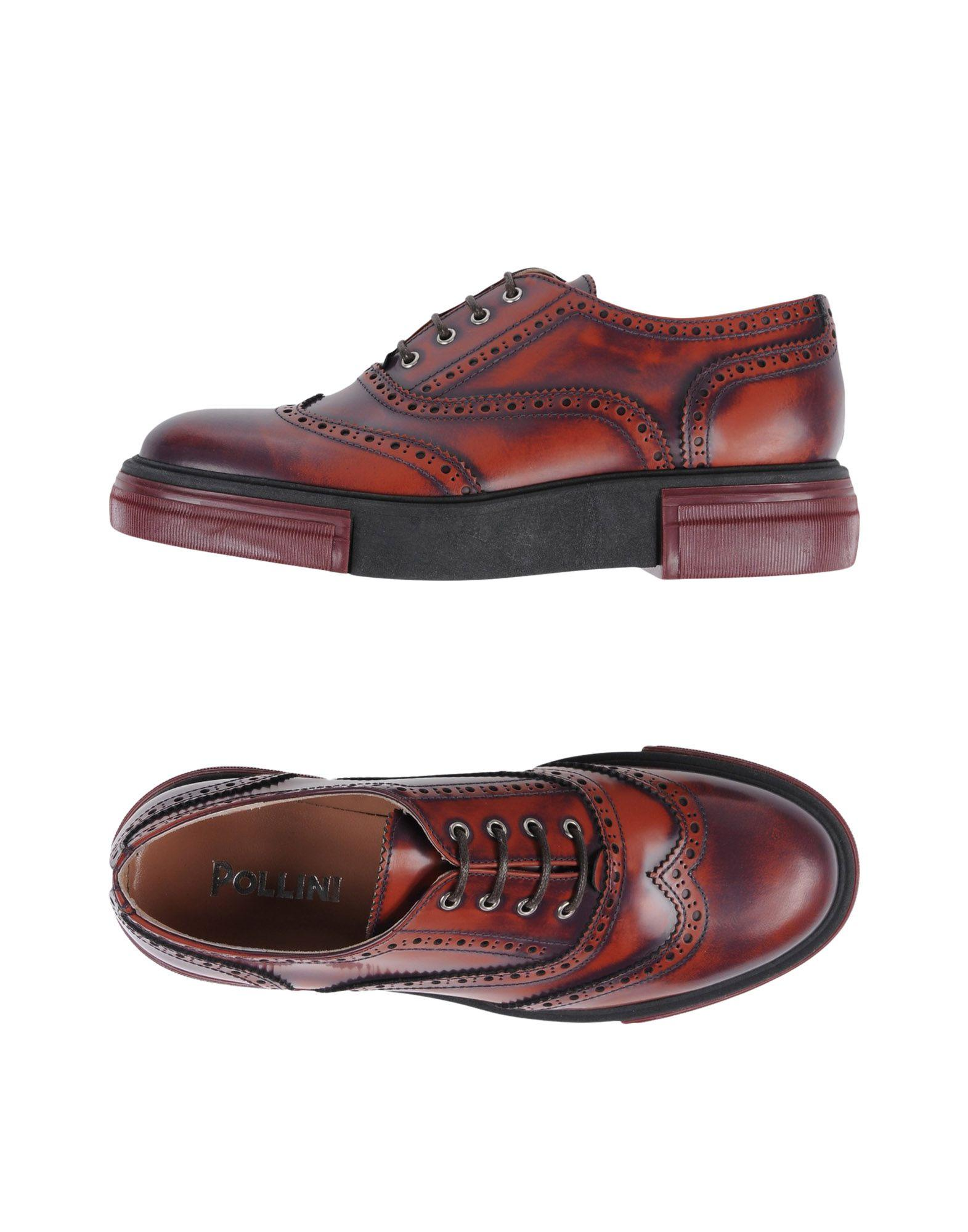 Pollini Lace-up Shoes In Rust