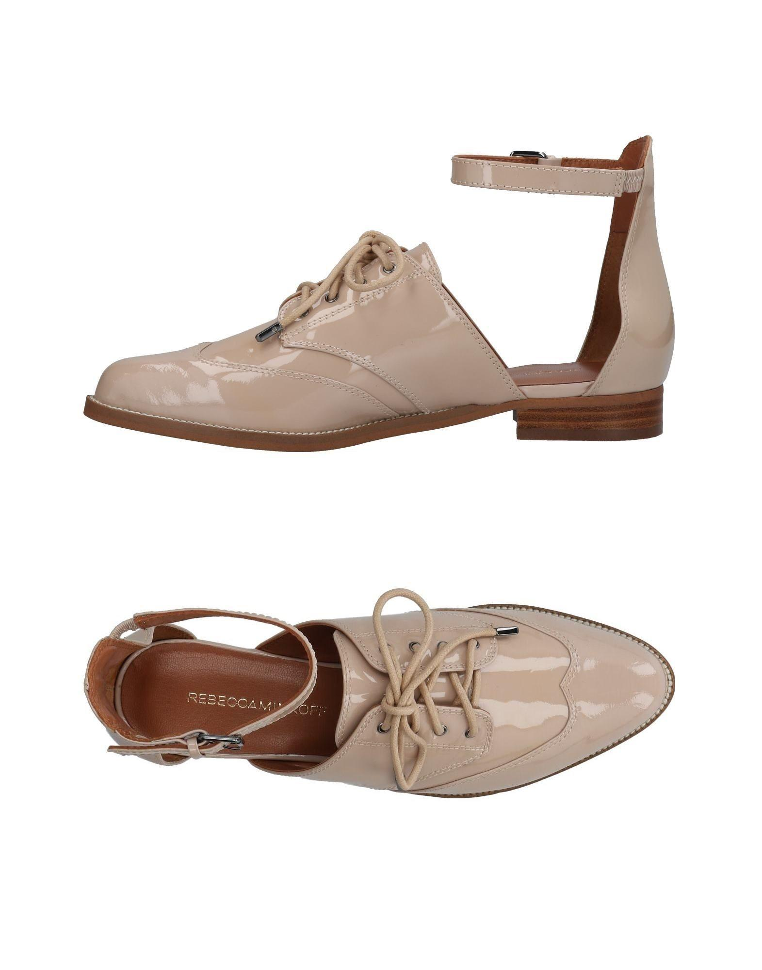 Rebecca Minkoff Lace-up Shoes In Sand