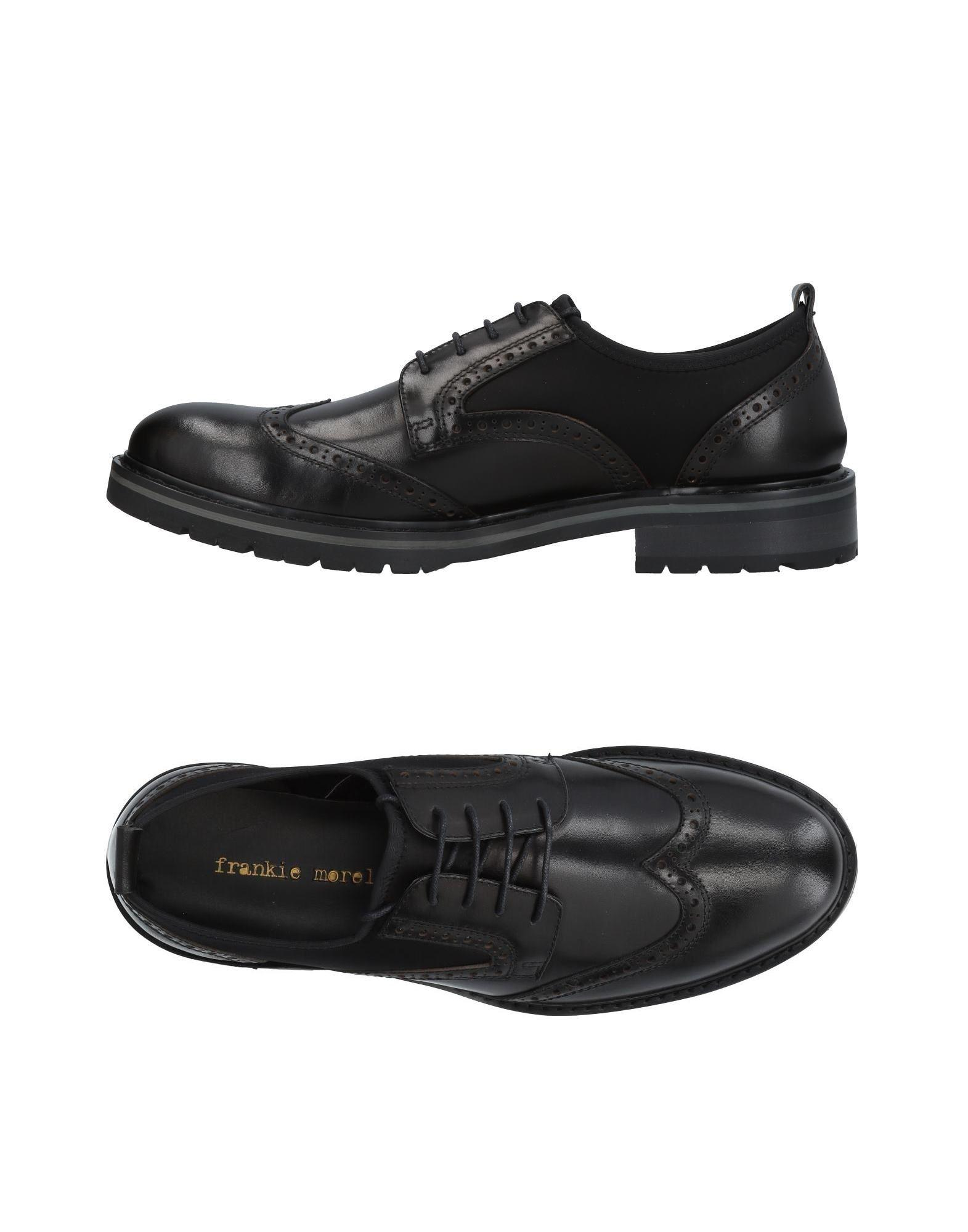 Frankie Morello Laced Shoes In Black