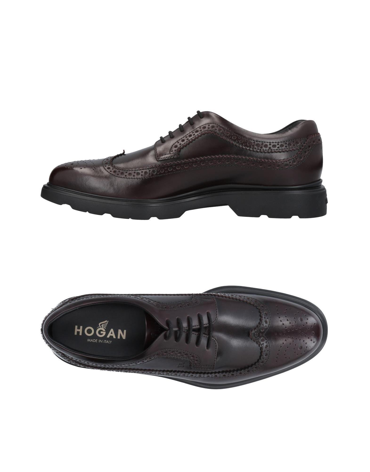 Hogan Laced Shoes In Deep Purple