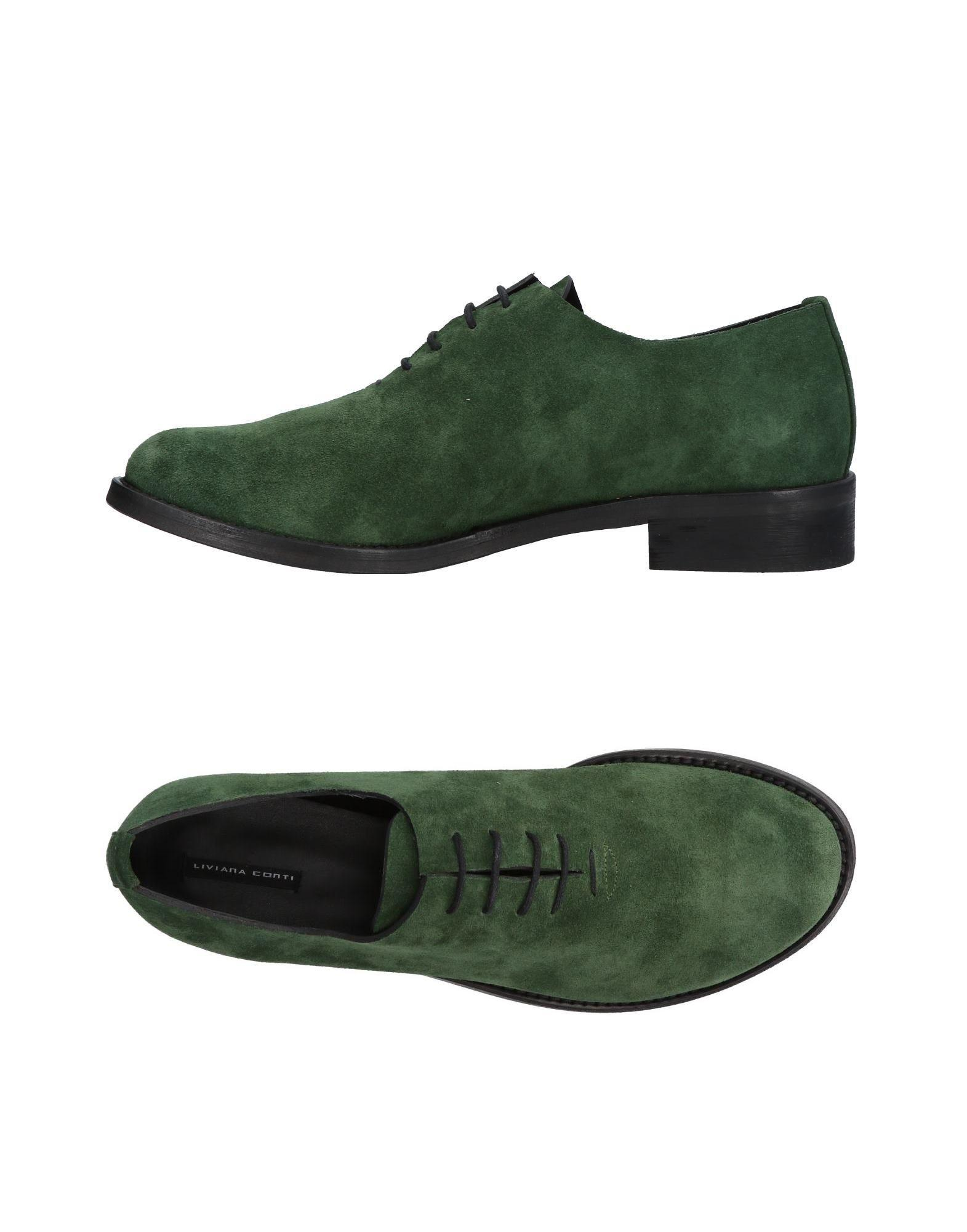Liviana Conti Laced Shoes In Military Green