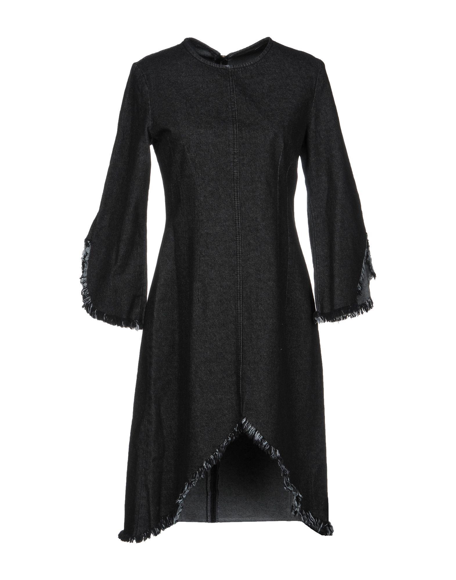 Sjyp Denim Dress In Black