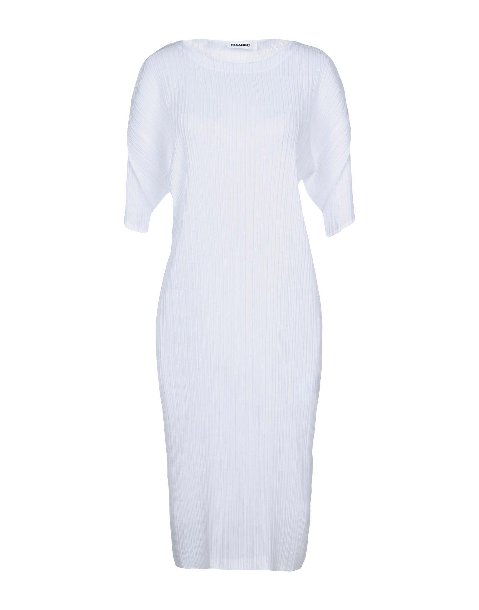 Jil Sander Knee-length Dress In White