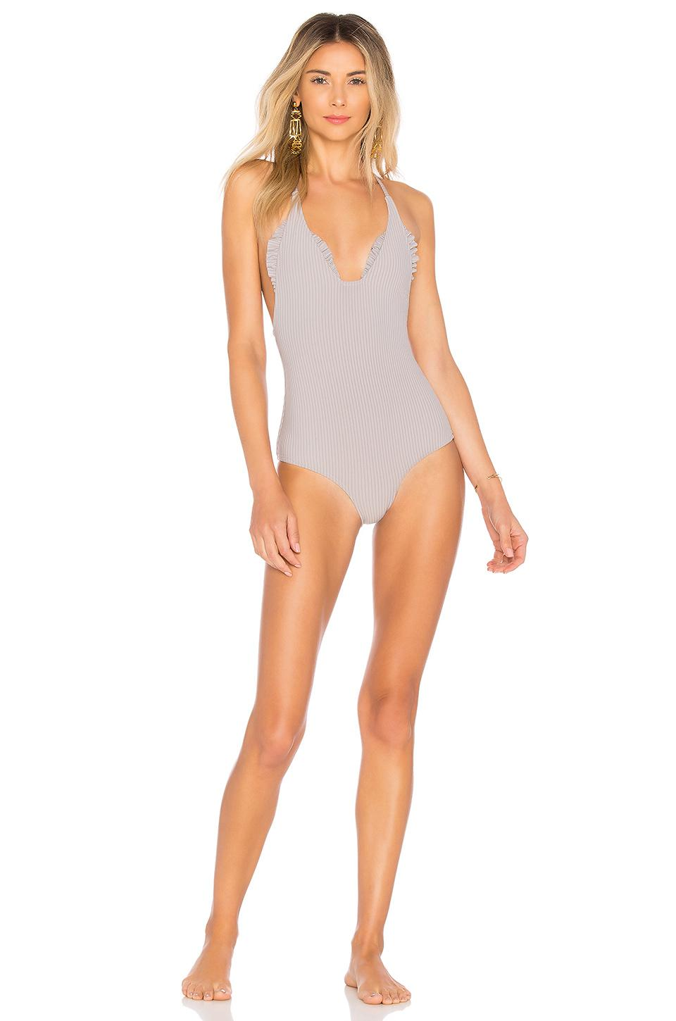 Made By Dawn Traveler One-piece Swimsuit In Dove Rib