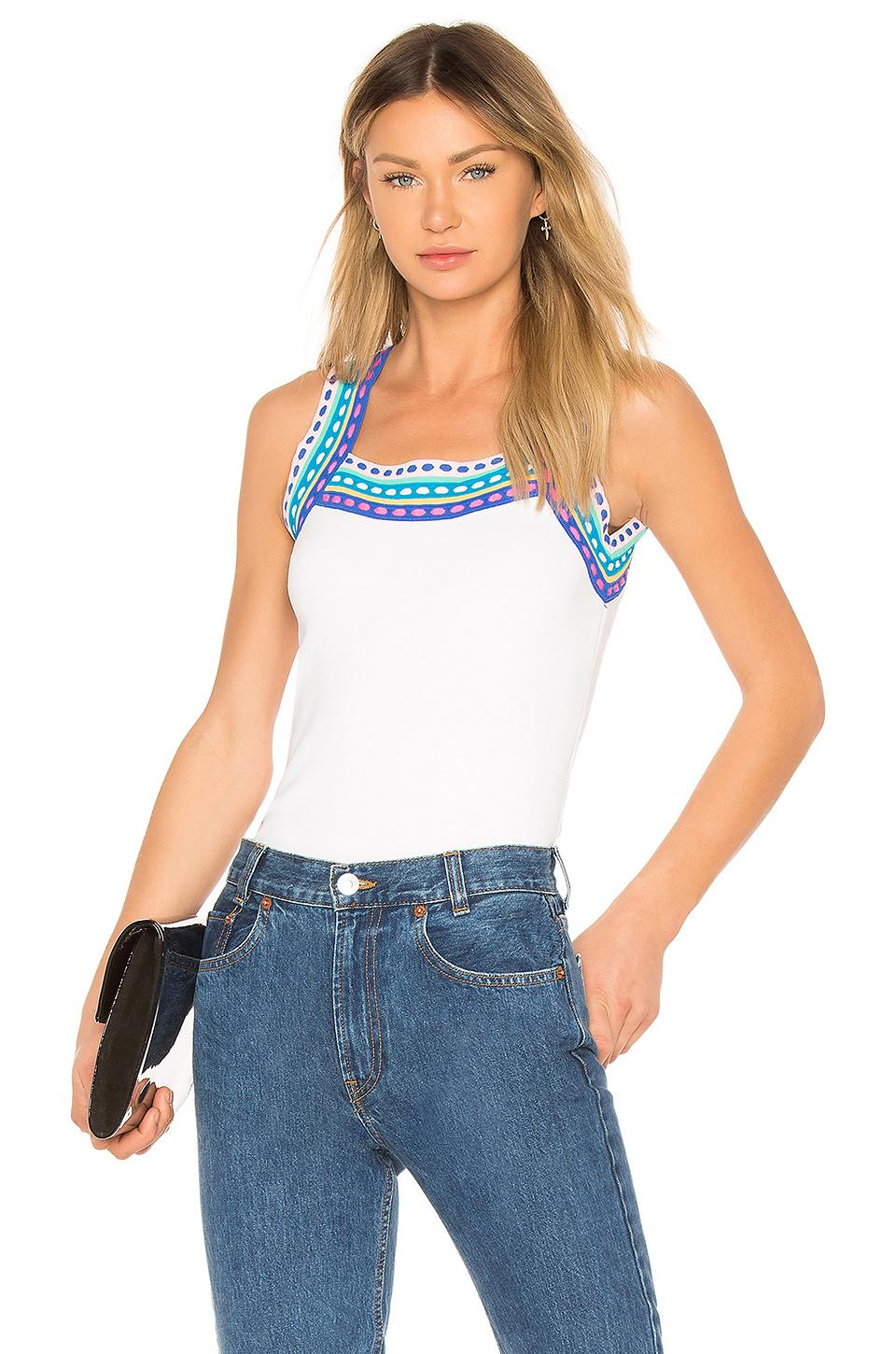 Milly Scoop Tank In White