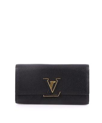 Louis Vuitton Pre-owned: Capucines Wallet Leather In Black