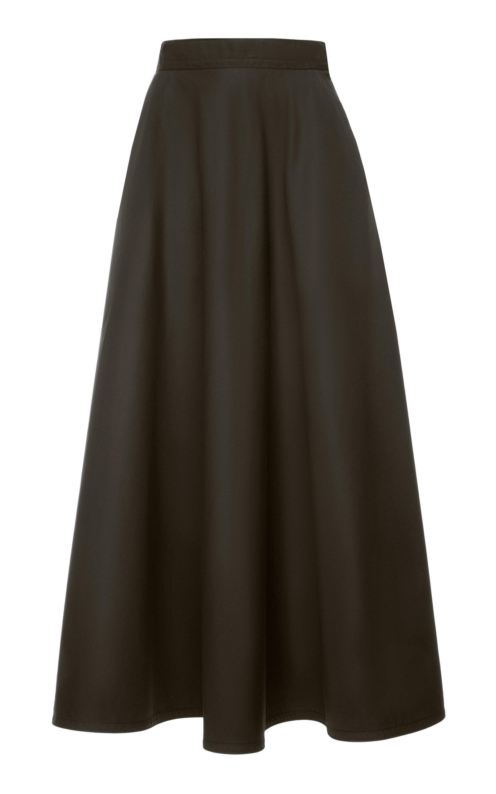 Bottega Veneta Cotton-blend A-line Skirt In Black