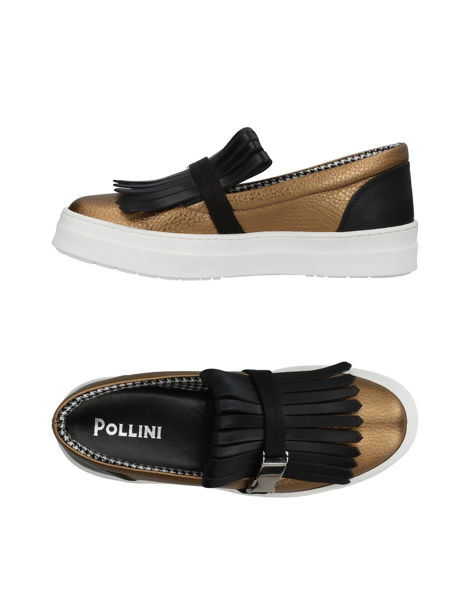 Pollini Sneakers In Gold