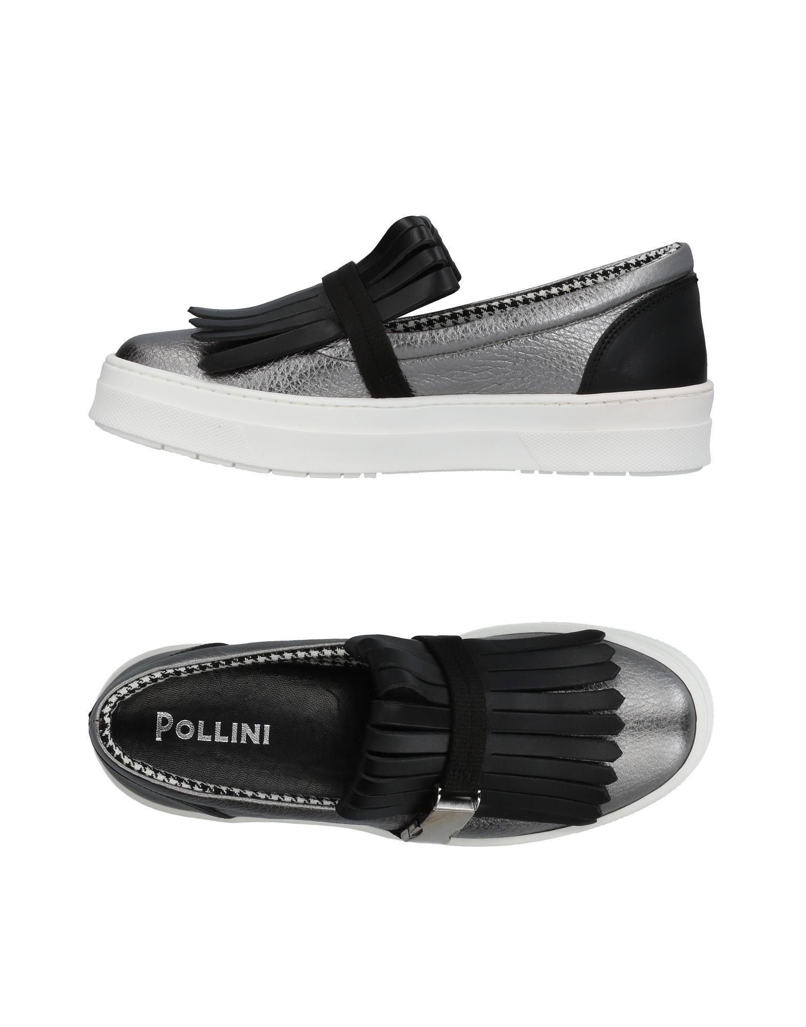 Pollini Sneakers In Silver