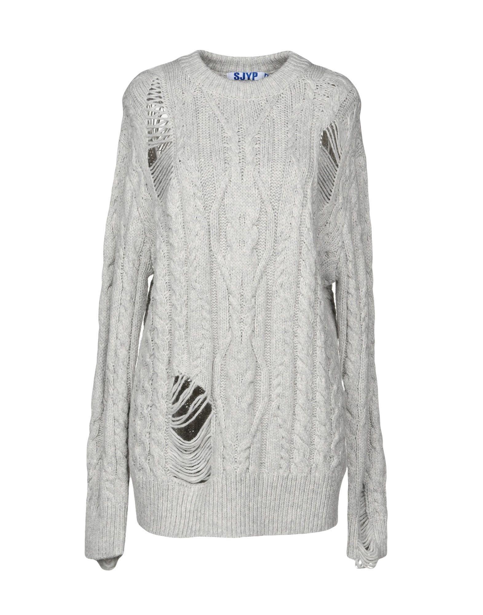 Sjyp Sweater In Light Grey