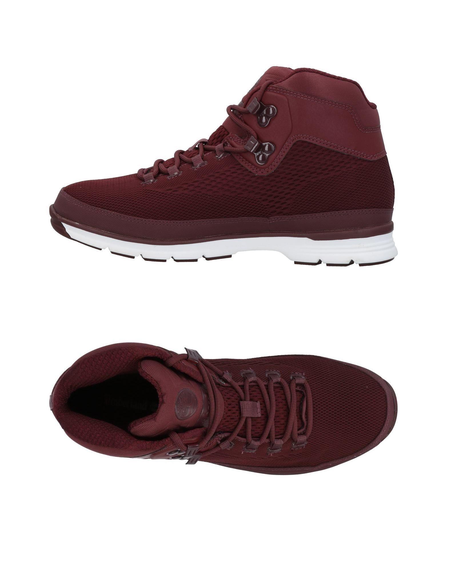Timberland Sneakers In Deep Purple