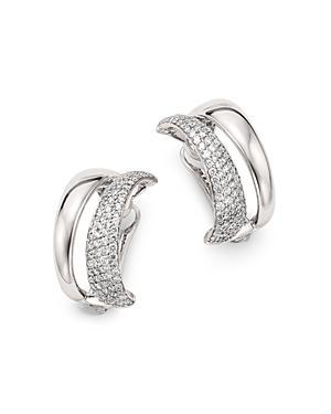 Roberto Coin 18k White Gold Scalare Convertible Diamond Earrings