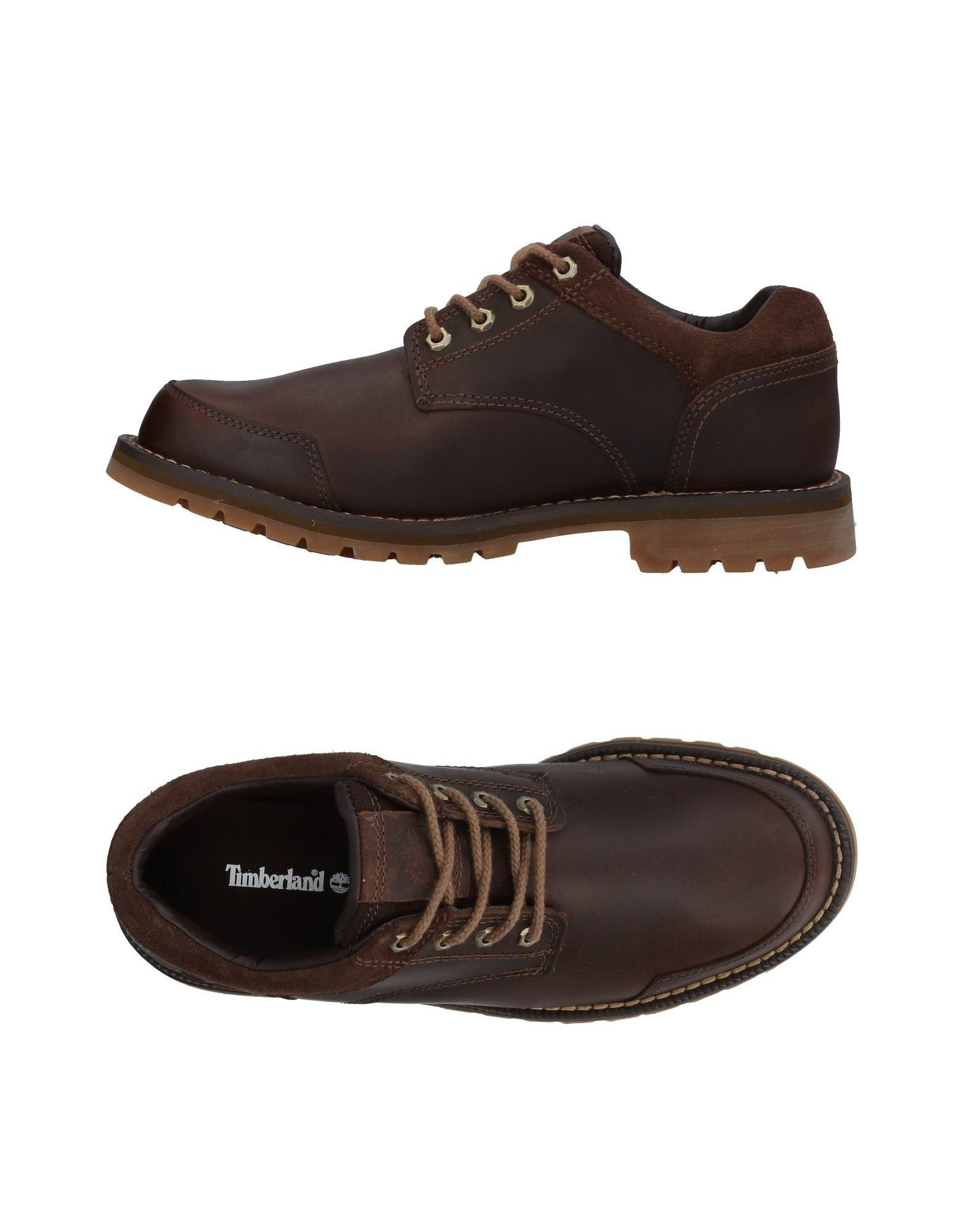 Timberland Laced Shoes In Cocoa