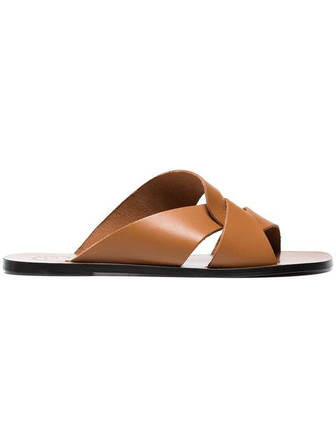 Atp Atelier Allai Cutout Sandals In Brown