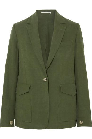 Golden Goose Saturnia Linen Blazer In Green