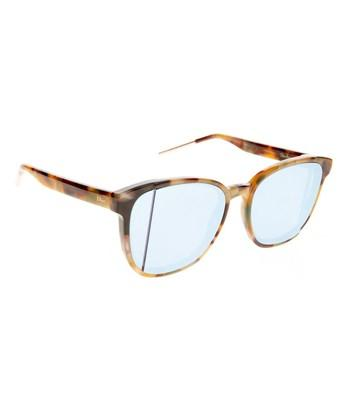 Dior Step Ori R9 Havana Yellow Square Sunglasses