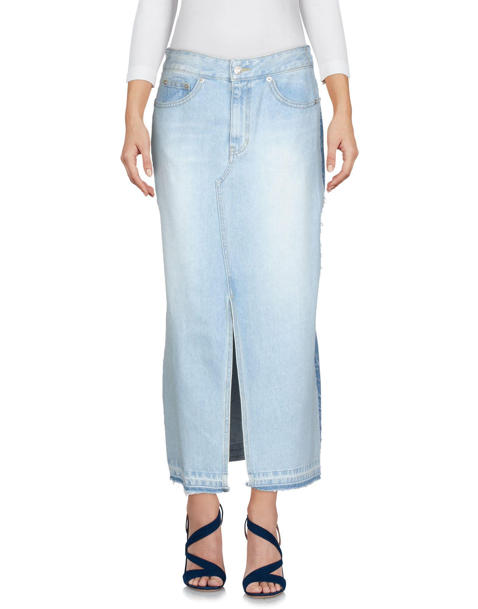 Sjyp Denim Skirt In Blue