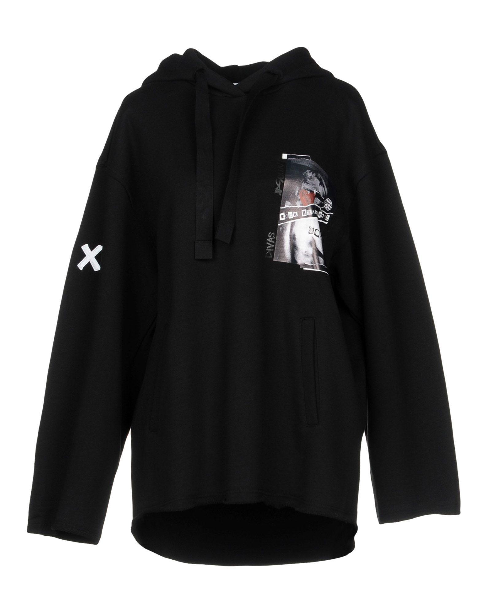Sjyp Hooded Sweatshirt In Black
