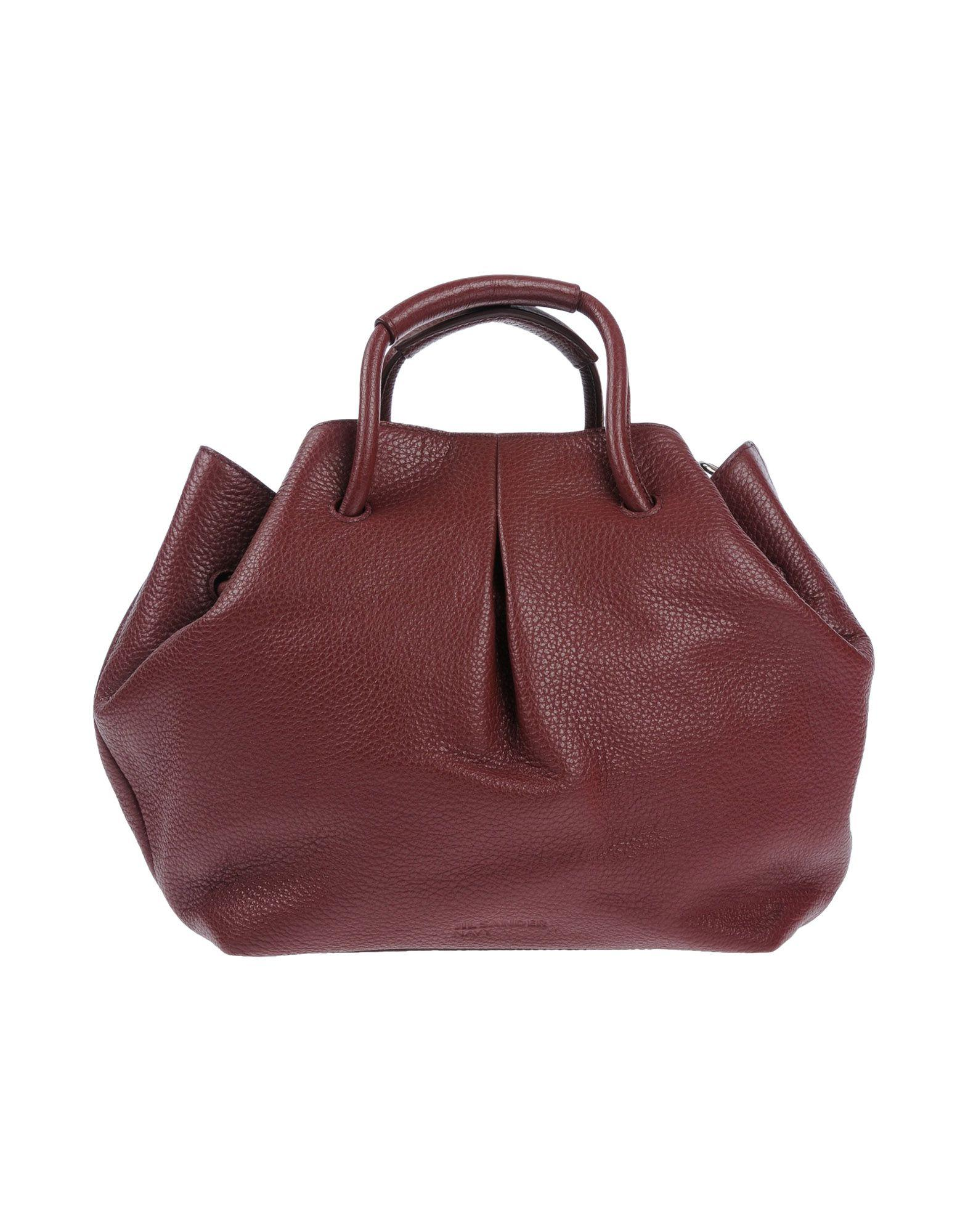 Jil Sander Handbags In Maroon