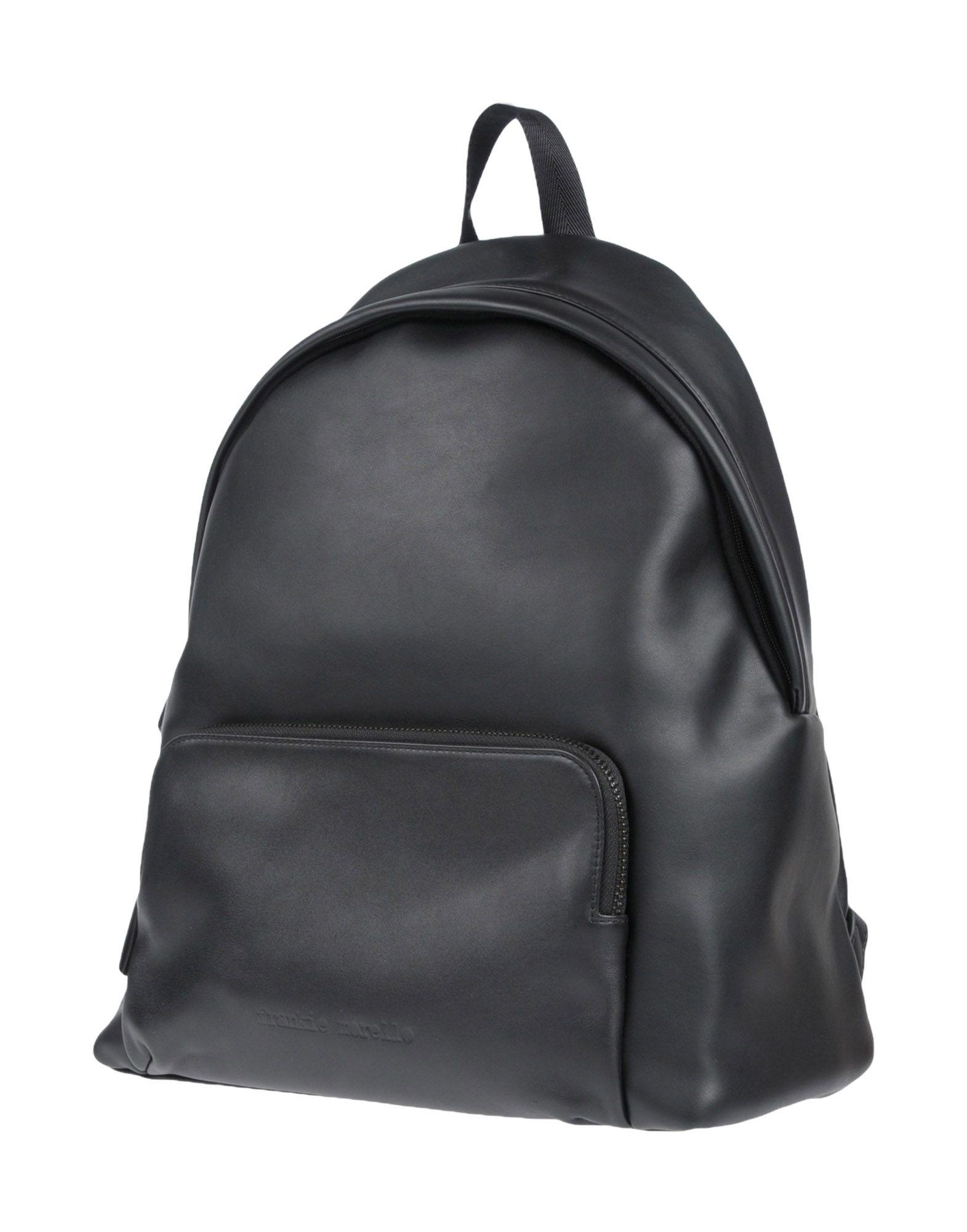 Frankie Morello Backpacks & Fanny Packs In Black
