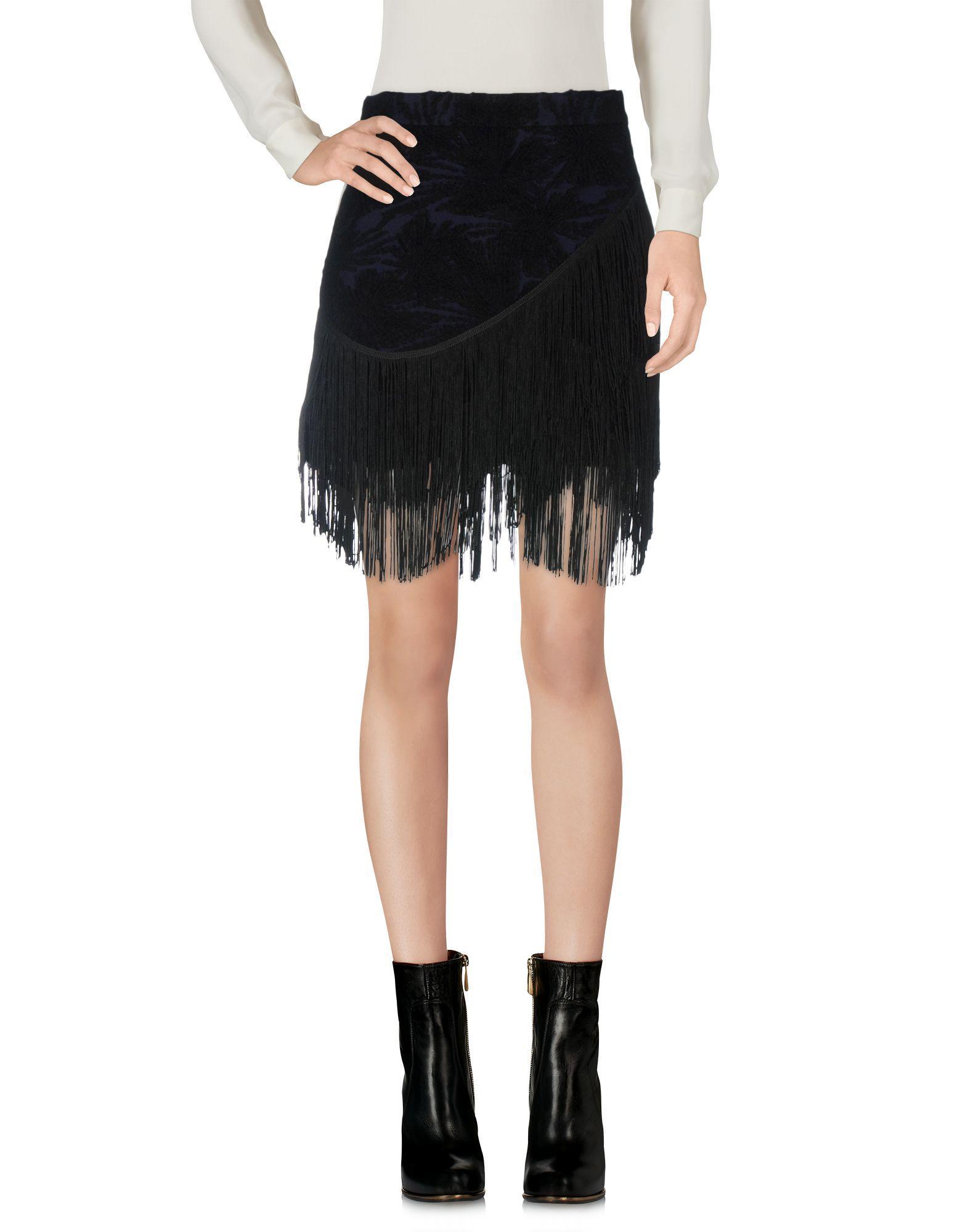 Rebecca Minkoff Mini Skirt In Dark Blue