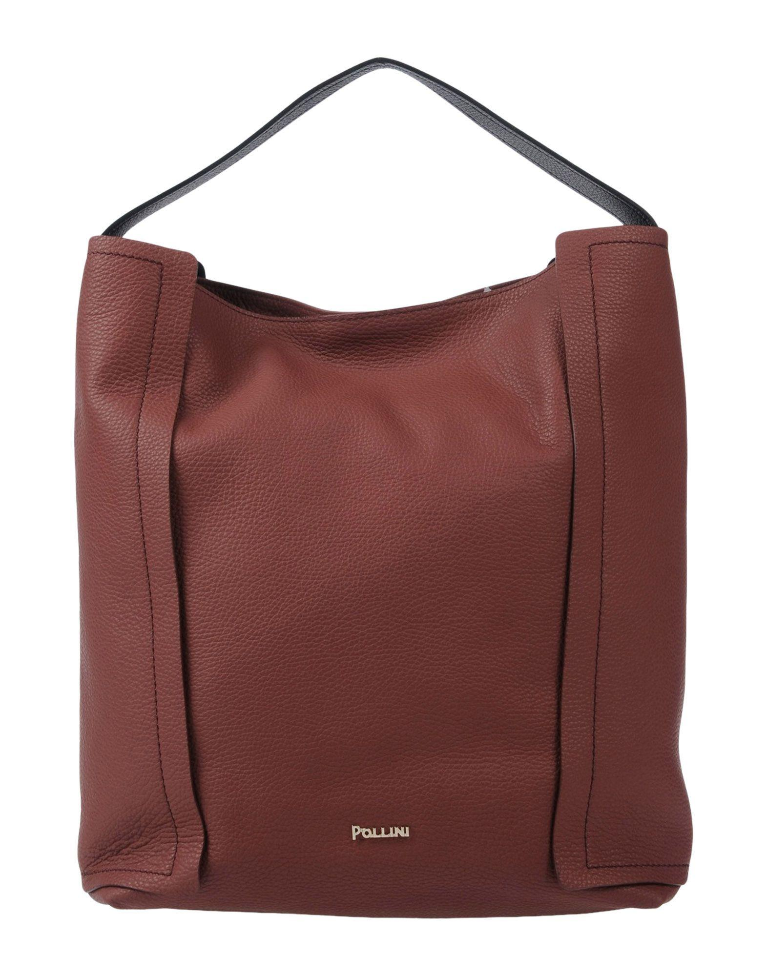 Pollini Handbag In Brick Red