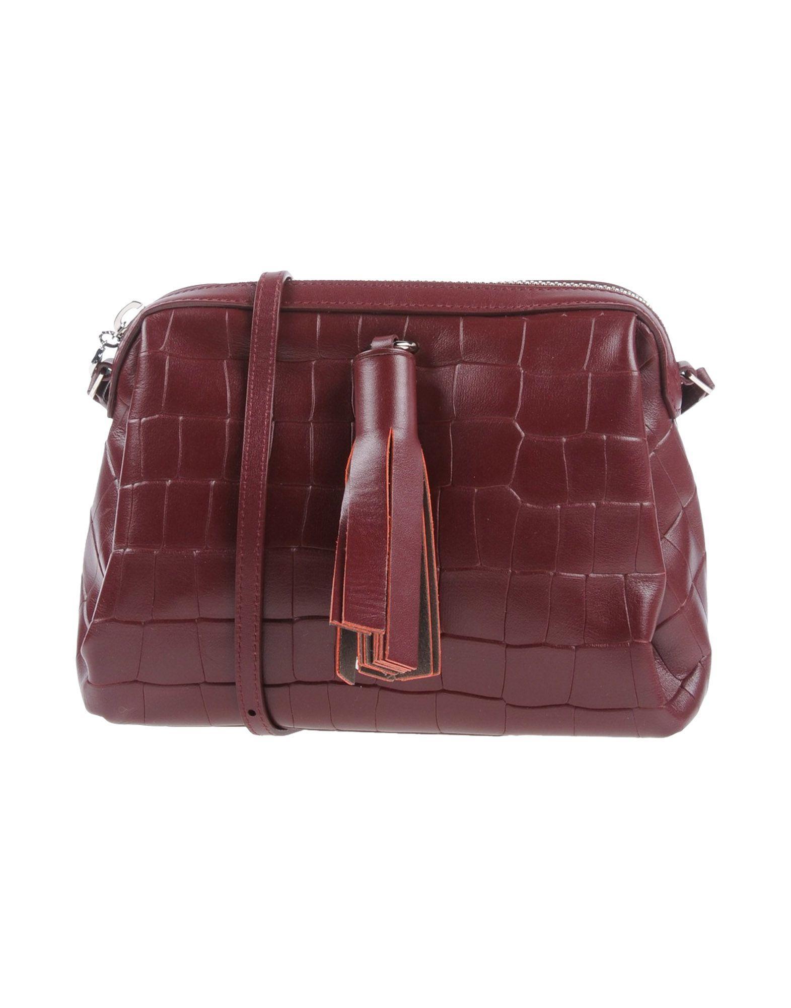 Pollini Across-body Bag In Maroon