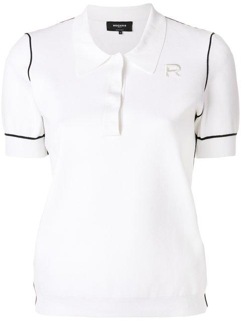 Rochas Contrast Detail Polo Top