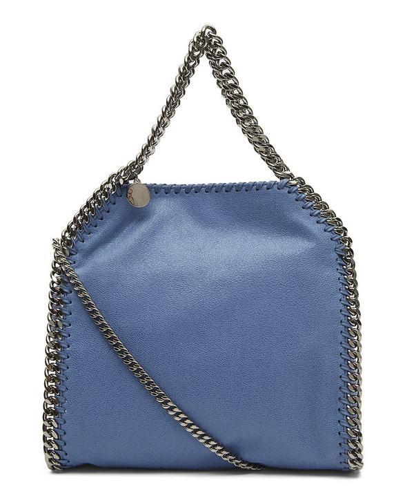 Stella Mccartney Falabella Small Tote Bag In Blue