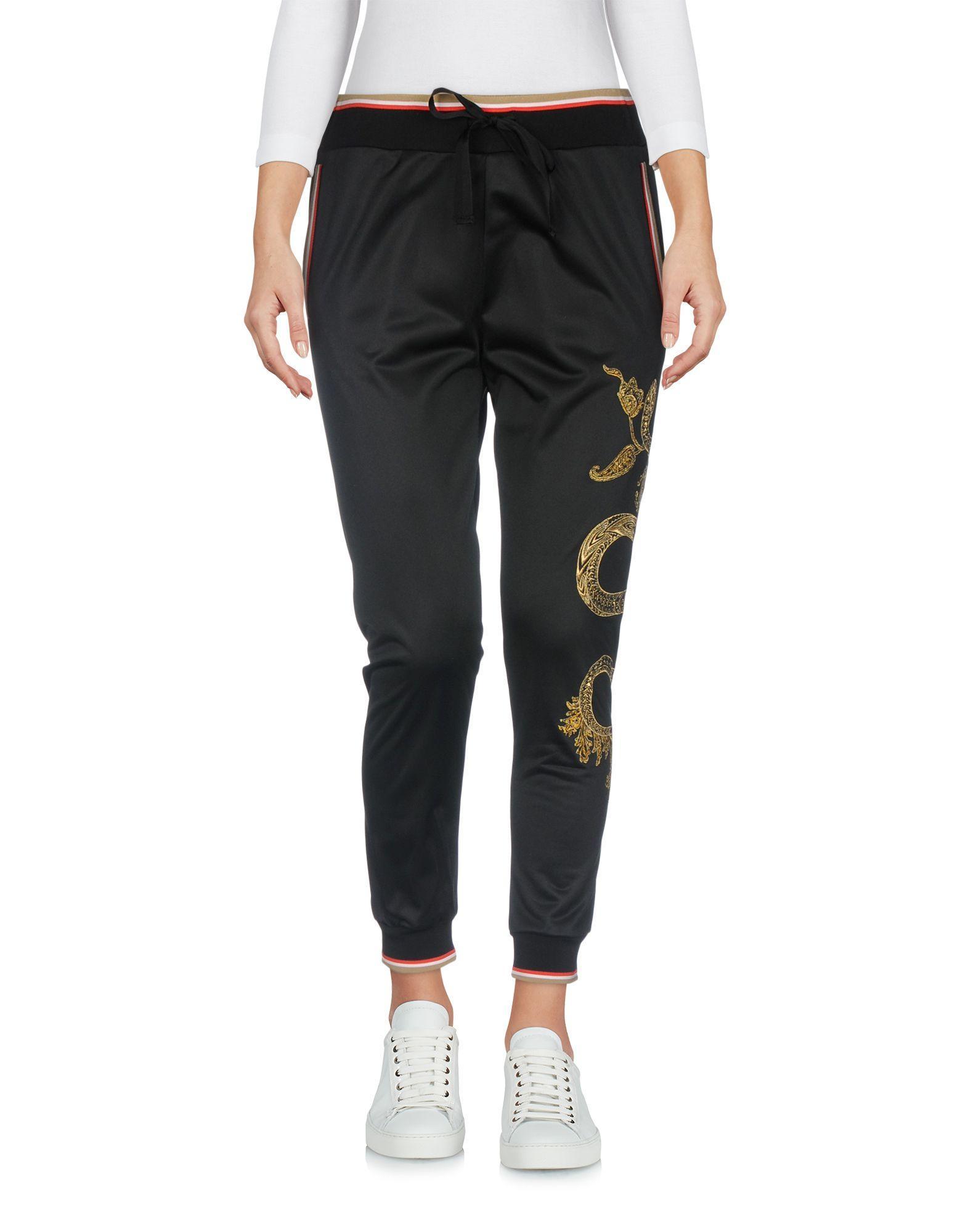 Roberto Cavalli Gym Casual Pants In Black