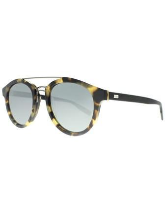 Dior Blacktie231s 555 T4 Light Havana Black Aviator Sunglasses