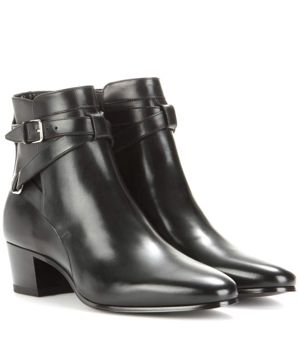 1fb4869d4b8 Saint Laurent Blake 40 Jodhpur Leather Ankle Boots In Black | ModeSens