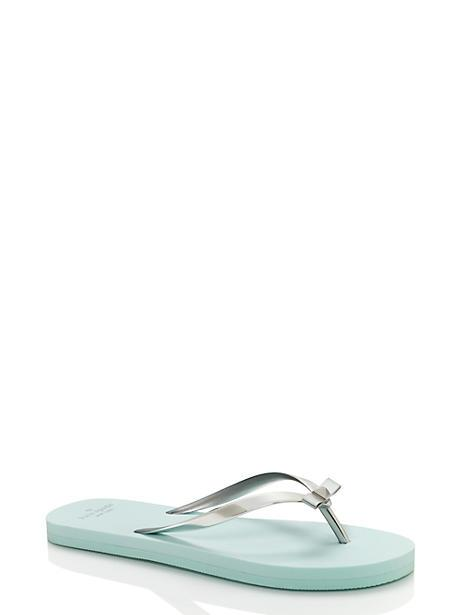 Kate Spade Happily Ever After Sandals In Silver/light Blue