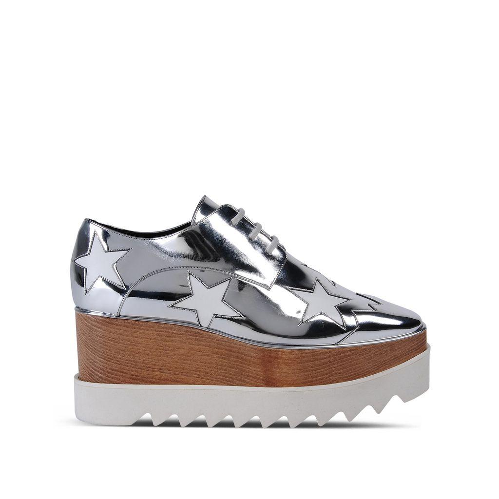 cadbcd47aa2e Stella Mccartney Britt Metallic Platform Derby Shoes In Silver. STELLA  McCARTNEY. 900Login to see price