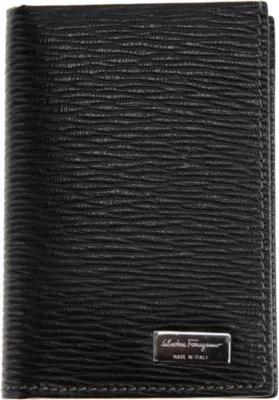 624a4bfdc38 Salvatore Ferragamo Men s Revival Credit Card Holder With Id Window In Black