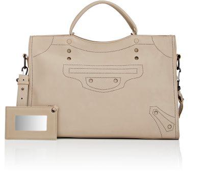 100e51a1017 Balenciaga Blackout City Aj Shoulder Bag In Gris Fonce | ModeSens