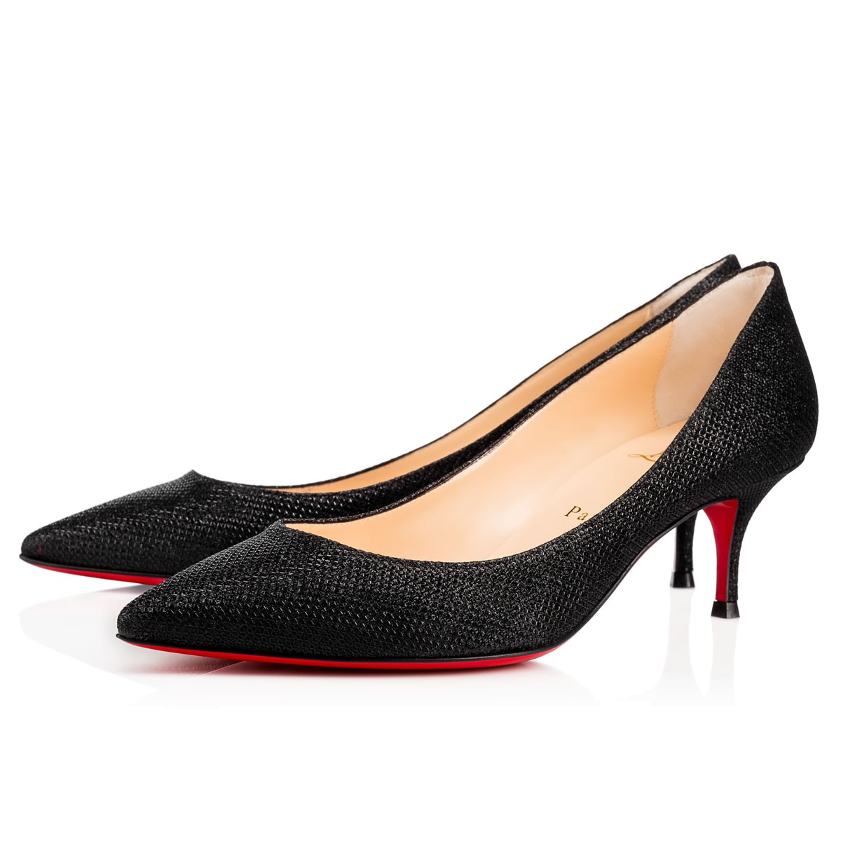 save off dd23b 198a2 Christian Louboutin Pigalle Follies Glitter Tisse 55 Black ...