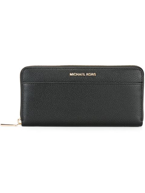 Michael Michael Kors Women's Wallet Genuine Leather Coin Case Holder Purse Card Bifold Mercer In 001 Black