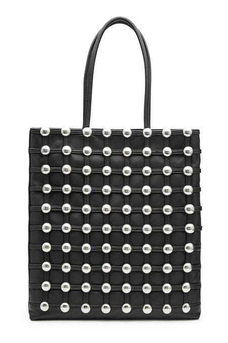 Alexander Wang Embellished Leather Tote In Black