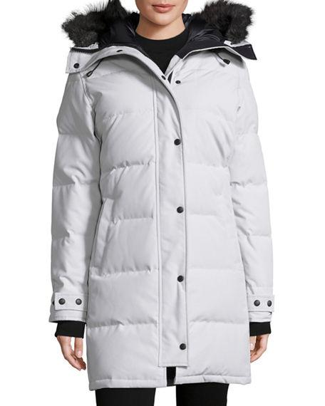 a680fd65362f Canada Goose Shelburne Hooded Parka In Silverbirch