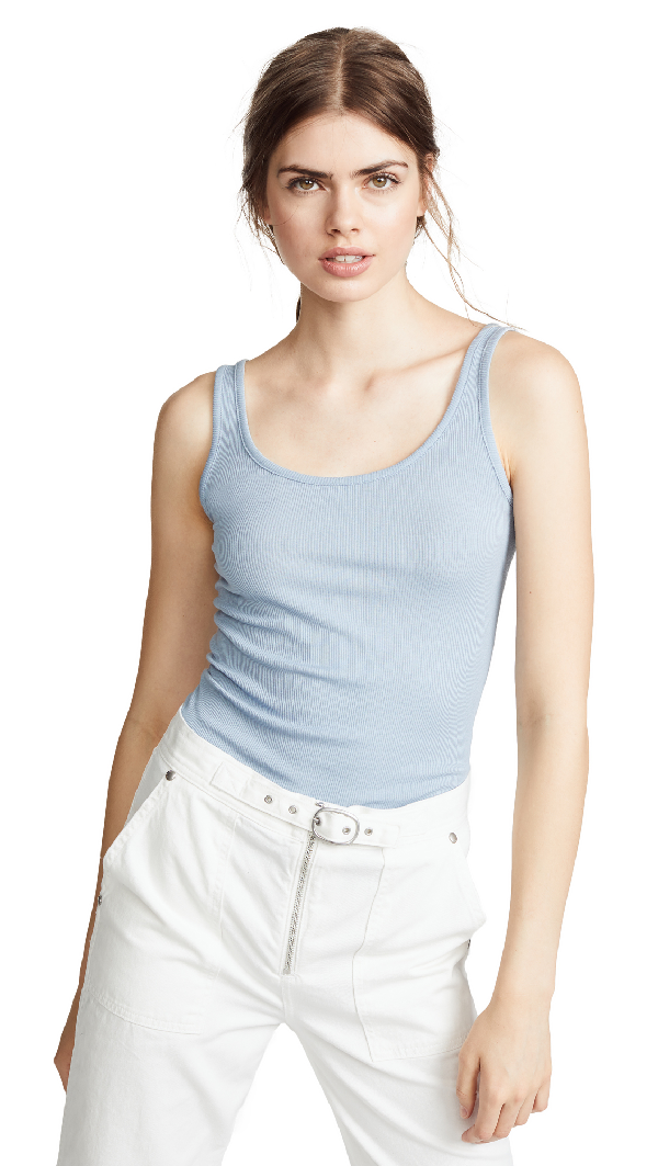 bf07f52335d85 Vince Scoop-Neck Pima Modal Tank Top In Glass