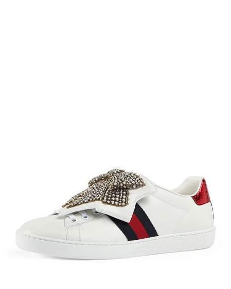 5e6fac208dc Gucci Ace Sneaker With Removable Patches In 9182 White | ModeSens