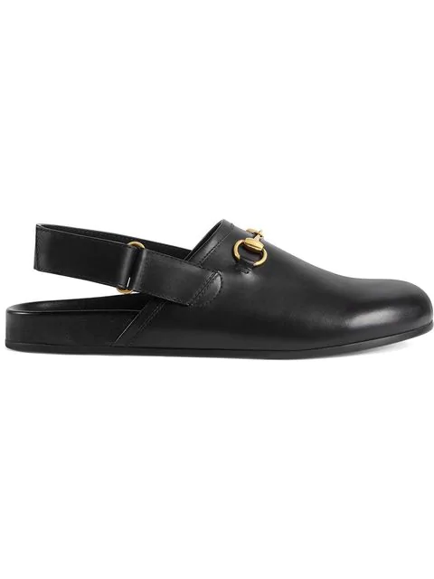 Gucci River Horsebit Leather Slipper In 1000