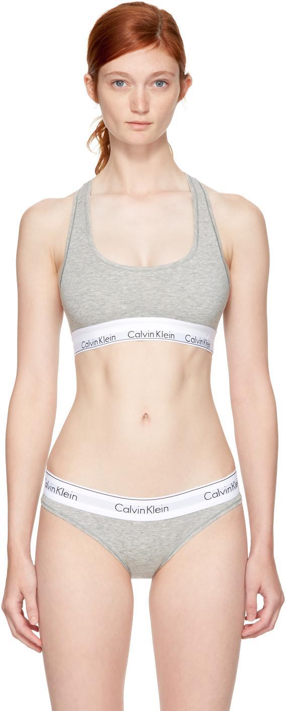 dba0b70b48 Calvin Klein Underwear Grey Modern Cotton Bralette