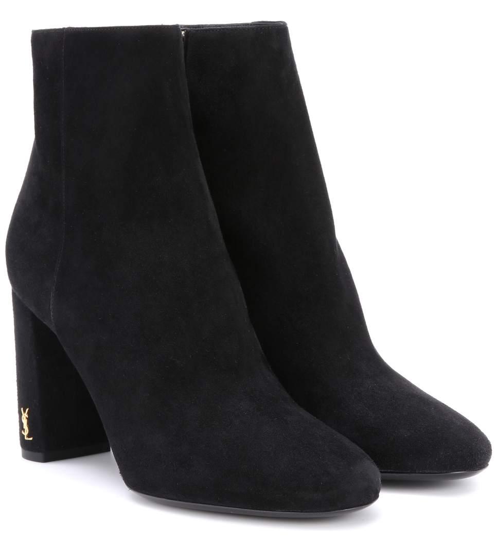 1c5316712e3 Saint Laurent Loulou 95 Suede Ankle Boots   ModeSens