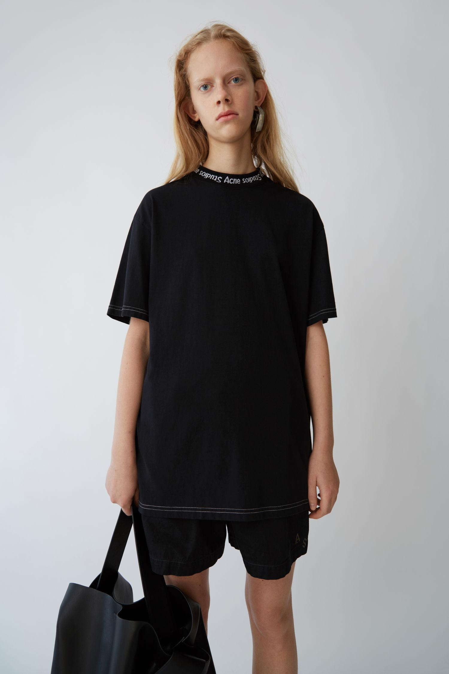 de49b40fd2ef Acne Studios Black Gojina Dyed T-Shirt | ModeSens