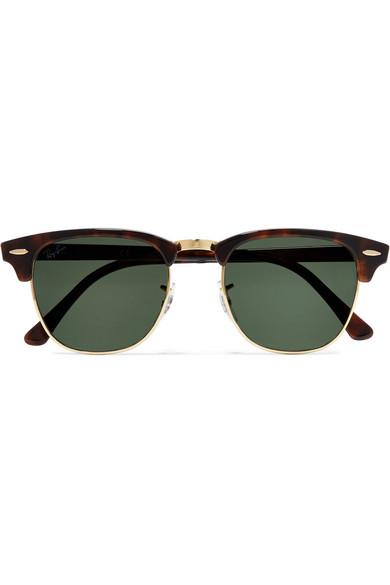 7006ad56ebd Ray Ban Ray-Ban Clubmaster Red Square Sunglasses