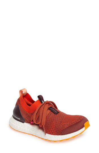 076a093e85c Adidas By Stella Mccartney Ultra Boost Knit Sneakers In Clay Red ...