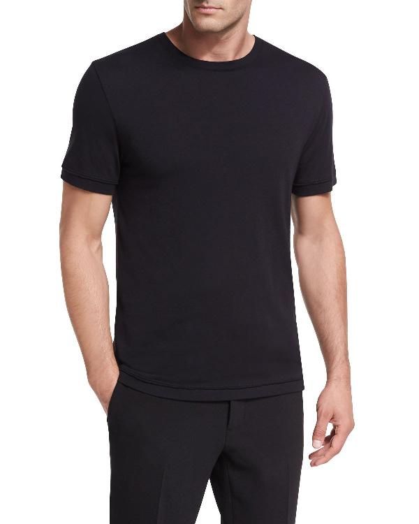 Vince Reverse Hem Slim Fit T-shirt In Optic White